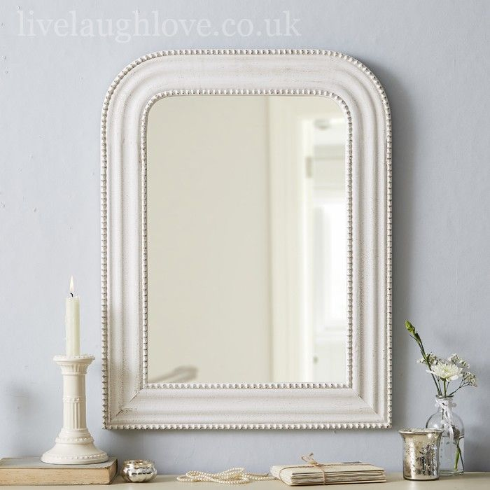 1930 S Style Arch Mirror Antique White