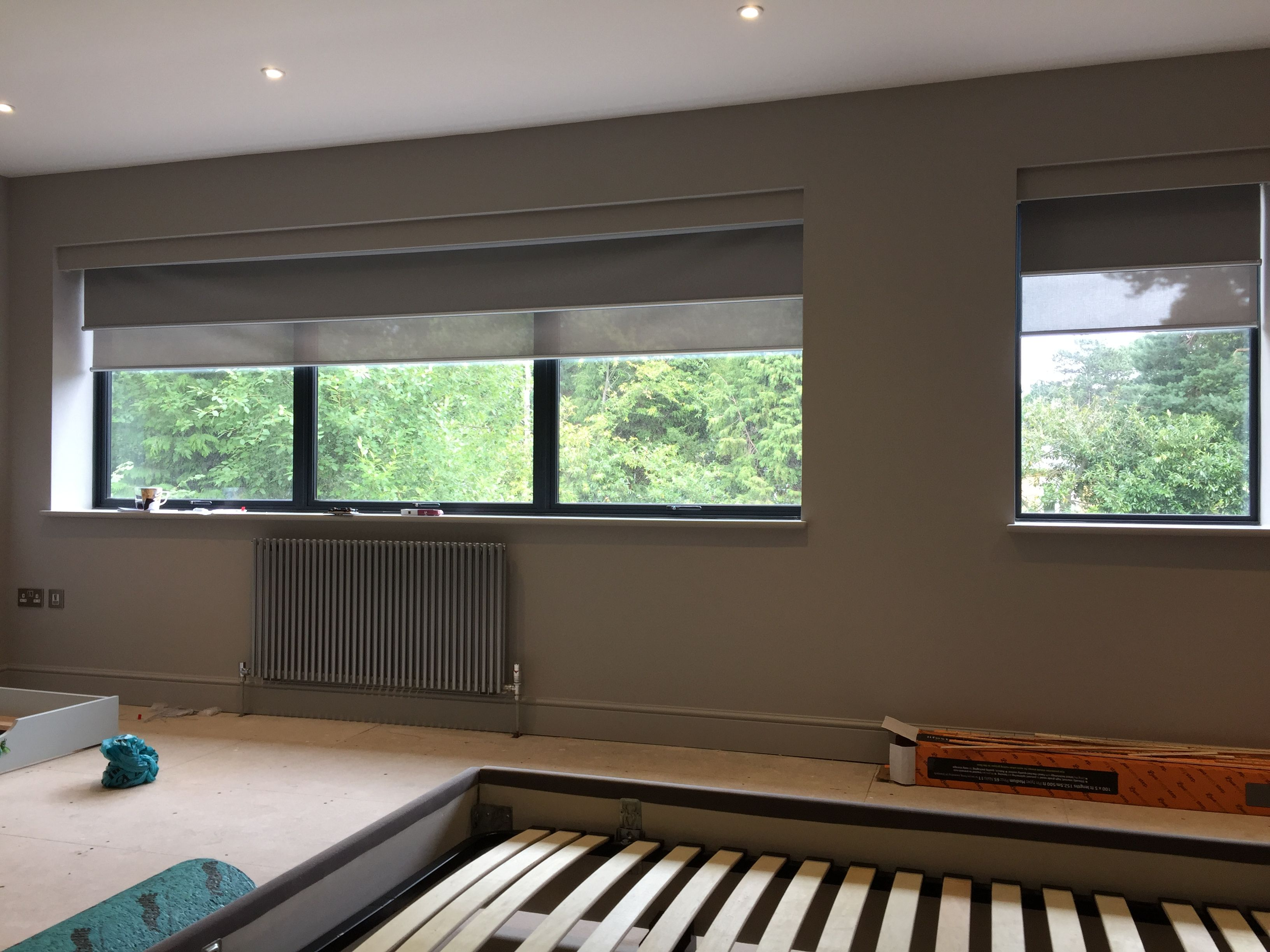 dalston modern window pelmet blind bedroom the fitted recess blinds roller outside matching blackout with pin