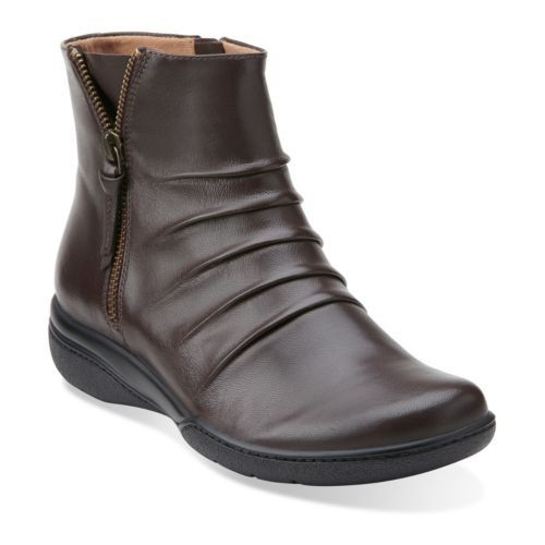 Brown · Kearns Blush Brown Leather - Clarks Womens ...