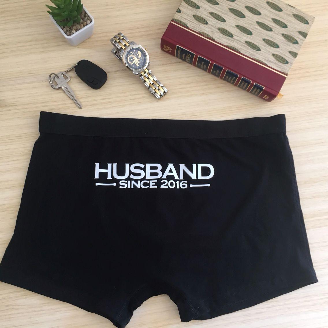 Great Wedding Gift For Husband: Personalised Underwear; Underwear For Groom; Husband