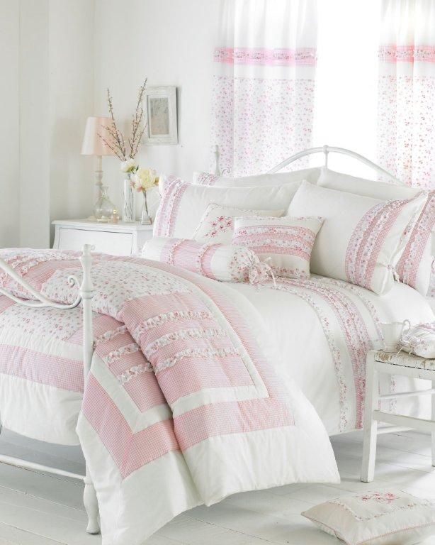 Vintage Duvet Set, Curtains And Accessories Pink :: Bedding :: C2B Fabric U0026