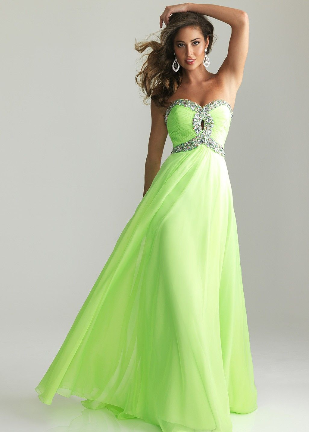 Green lime prom dresses