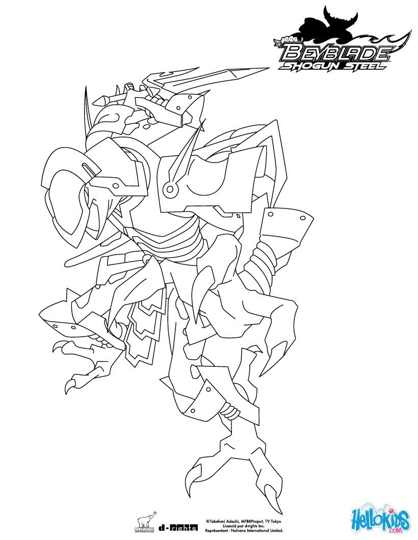 Ninja Salamander coloring page from Beyblade TV series. More ...