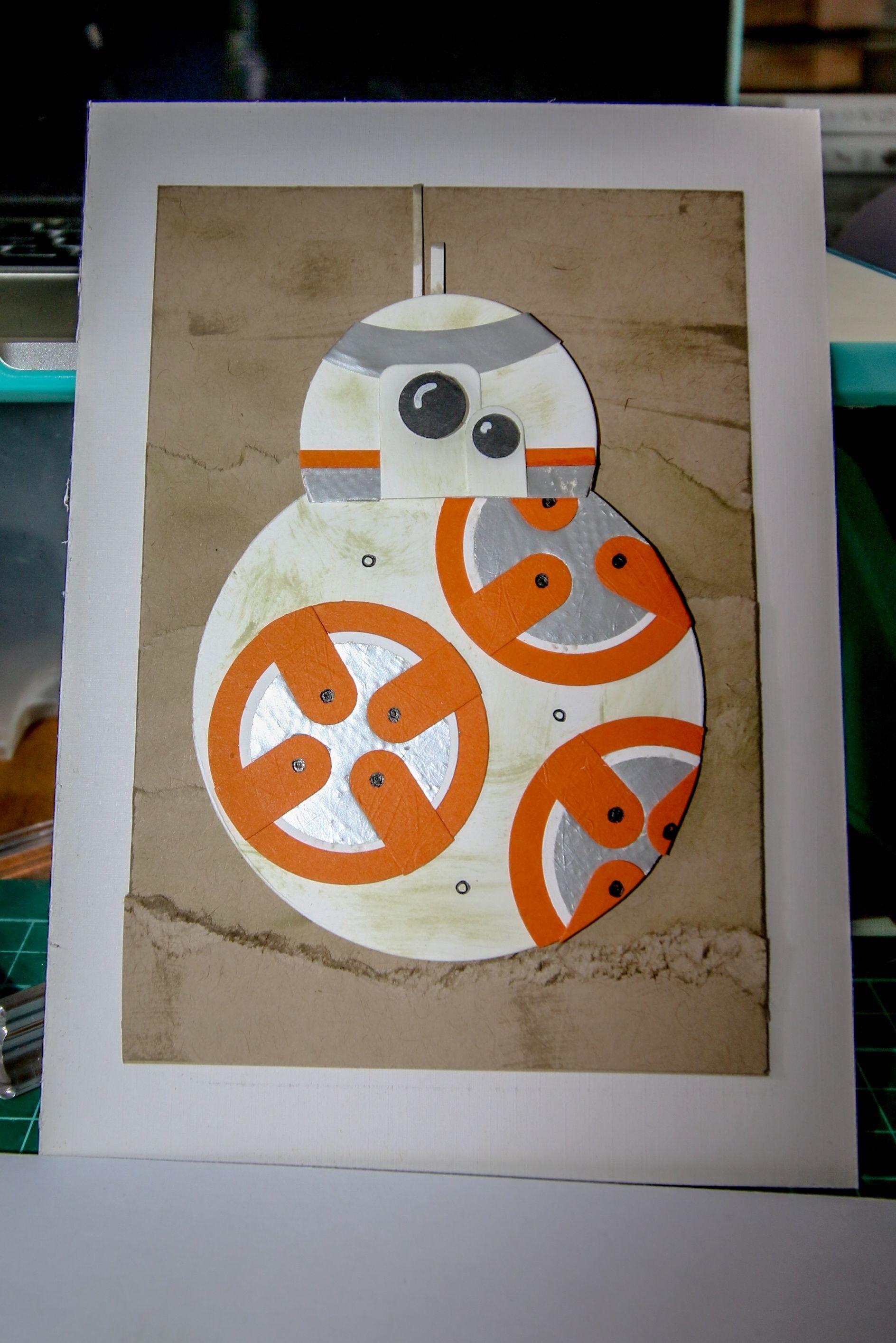 Star Wars Punch Art Bb8 Star Wars Birthday Cards Pinterest