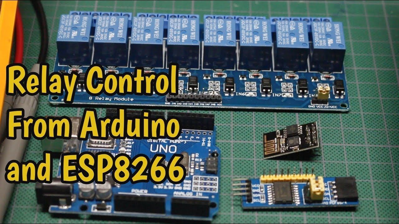 How to control a relay module from Arduino or ESP8266