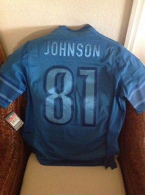 timeless design 9a700 6e860 Nike Calvin Johnson #81 Megatron Detroit Lions Nfl Jersey ...
