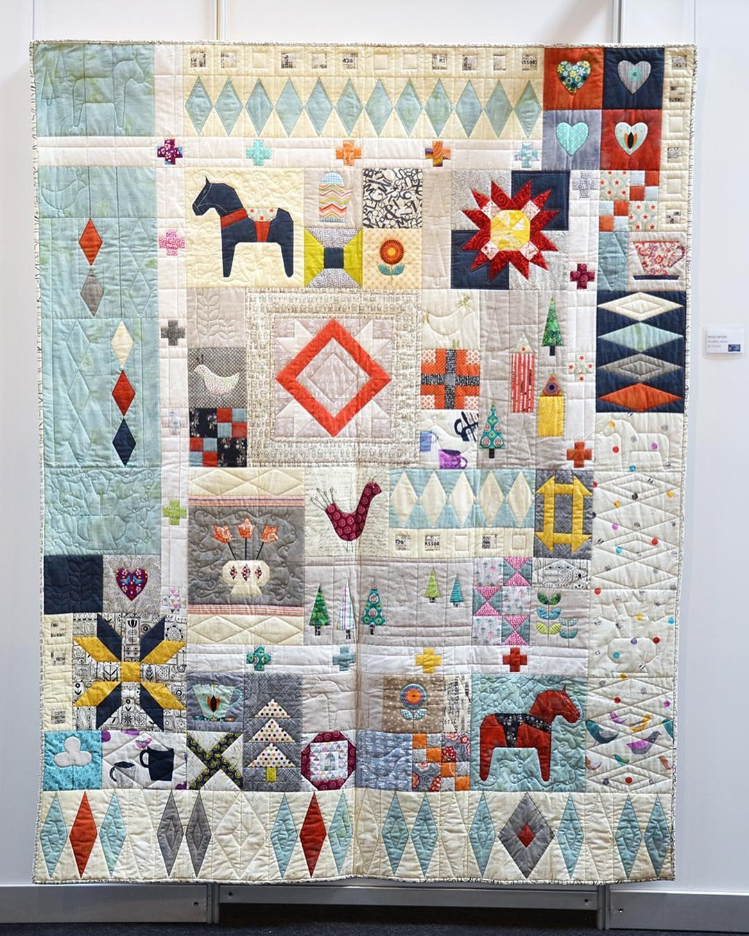 Nicolette Jansen On Instagram My Penny Sampler Quilt Made In An Online Class With Rachel Over At Stitchedincolor The Ba Quilts Sampler Quilt Sampler Quilts