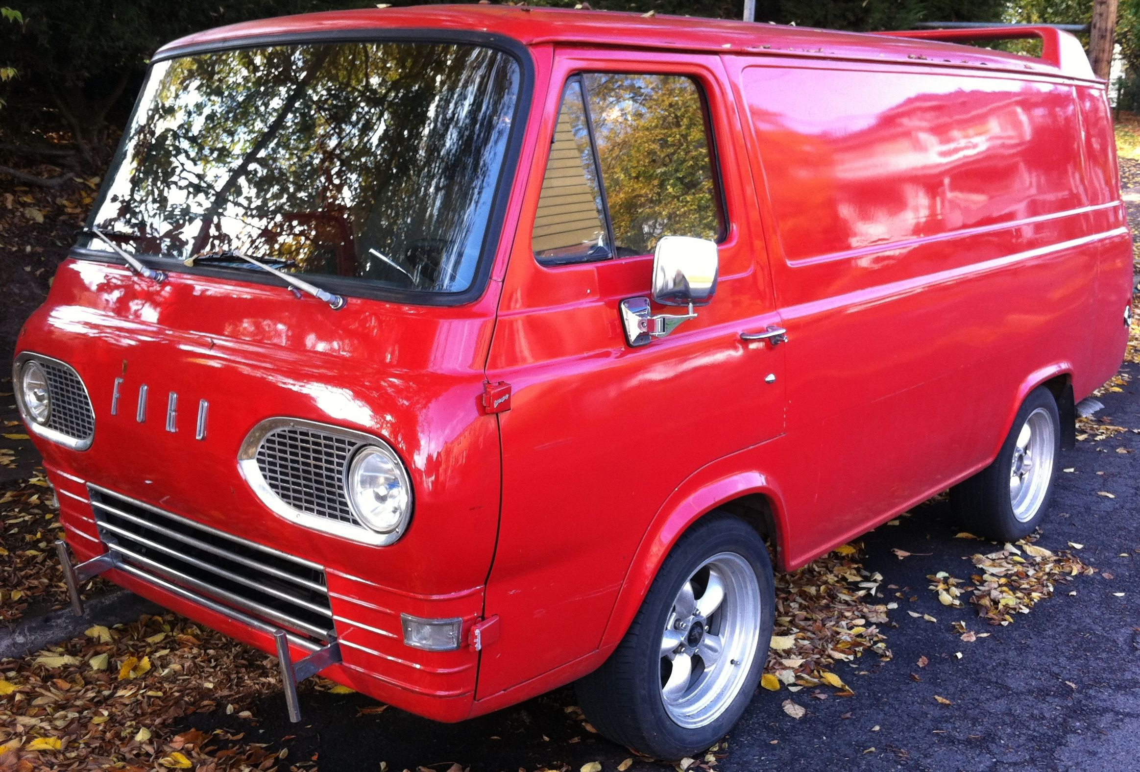 1st gen ford econoline check out the a team like spoiler on the roof
