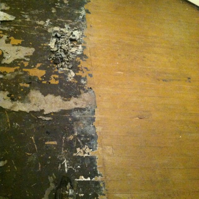I Removed 1940 S Floor Tar Under Linoleum With Hot Water