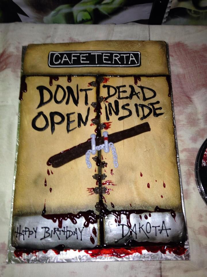 The Walking Dead Birthday Cake Party Ideas Pinterest Birthday