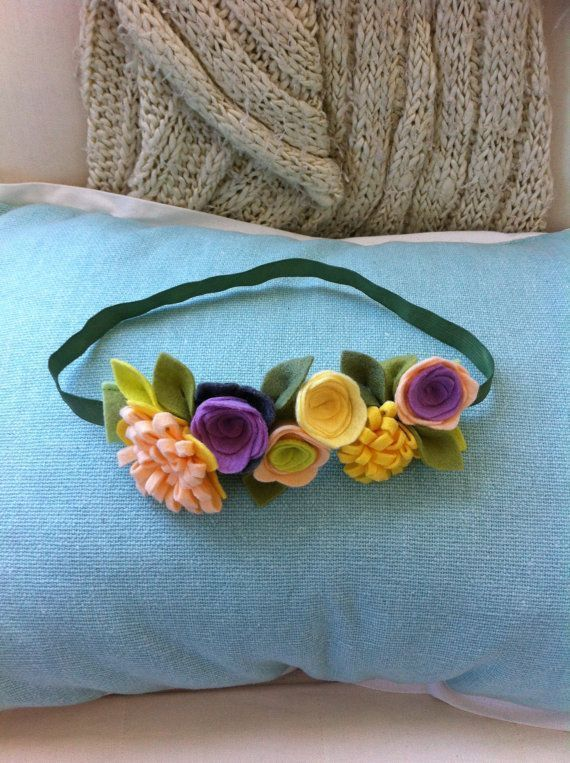 Felt Flower Headband // Garden Collection // Peach, Purple & Yellow Felt Flower Headband // Garden Collection // by fancyfreefinery, $13.50 Easter photo prop accessory, baby girl hair accessory. #feltflowertemplate #fancyfreefinery #collection #accessory #headband #garden #purple #yellow #flower #easter #peach #photo #felt #girl #hair #babyFelt Flower Headband // Garden Collection // Peach, Purple & Yellow Felt Flower Headband // Garden Collection // by fancyfreefinery, $13.50  Easter photo prop #feltflowerheadbands