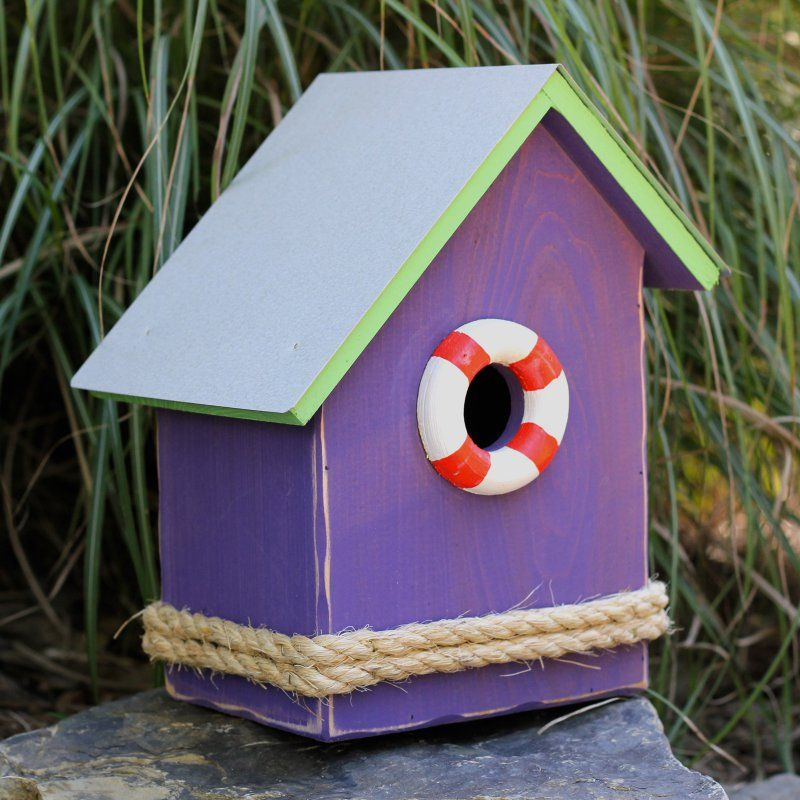 Best Heartwood S S Birdsong Bird House Pink With Turquoise 400 x 300