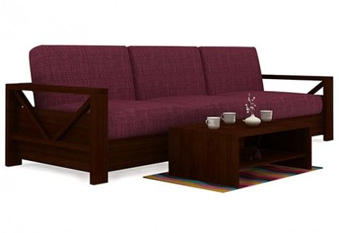 Shalby 3 Seater Wooden Sofa Dimensions Inch 90 L X 32 W X 30 H Material Sheesham Wood Color Finish Mahogany Finish Sofa Set Sofa Design Sofa Set Online