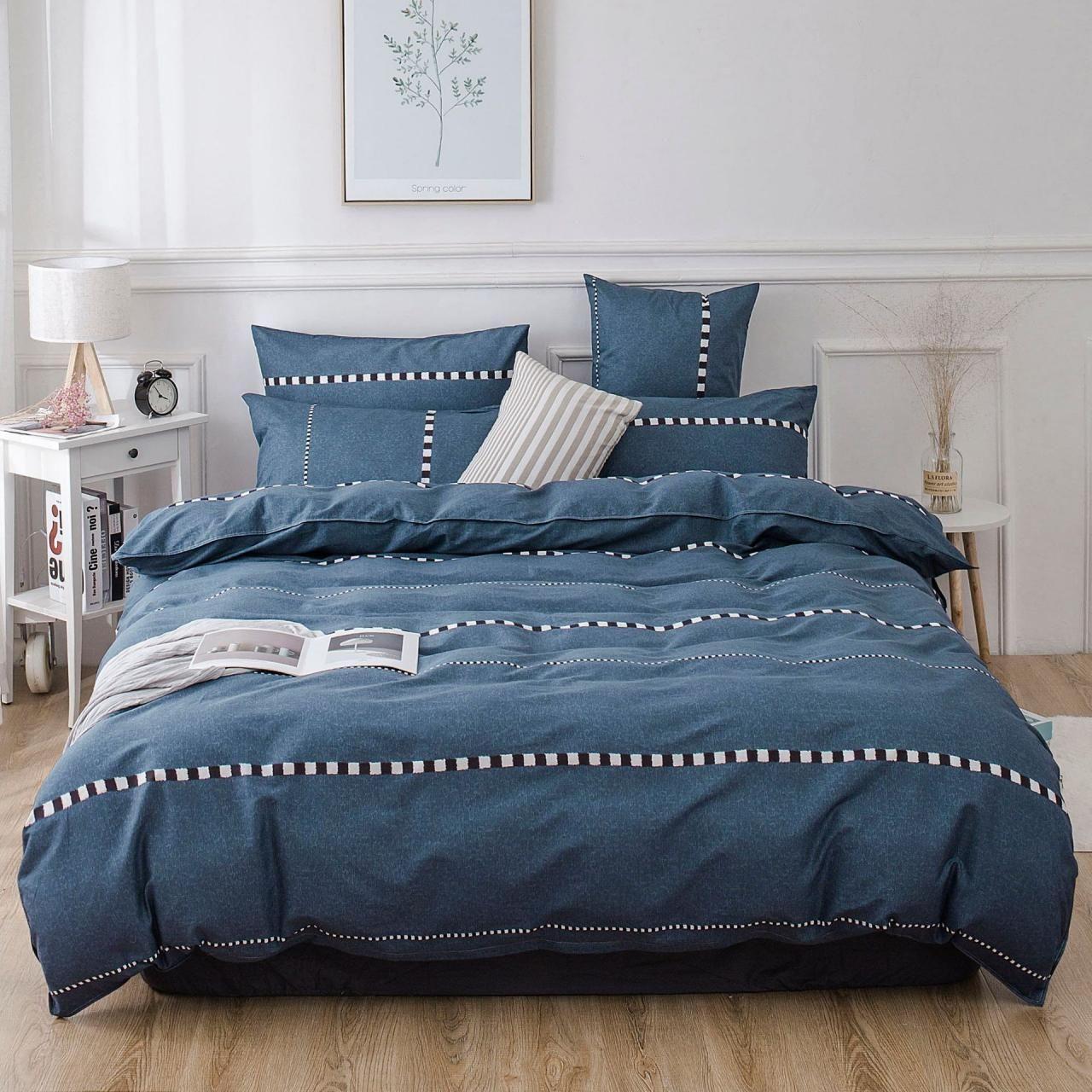 Bedding Set 4 Pieces 100 Brushed Cotton Thick Duvet Quilt