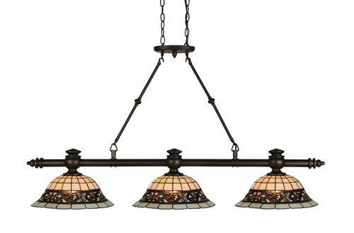 "Patriot Lighting Elegant Home Mansfield 3-Light 49.75"" W ..."