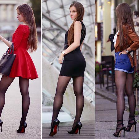 Kobiecy Elegancki Styl Na Rozne Okazje Z Czym Nosic Krotkie Sukienki Spodniczki Czarne Szpilki Czarne Rajstopy Ponc Mini Skirts Model Legs Black Pantyhose