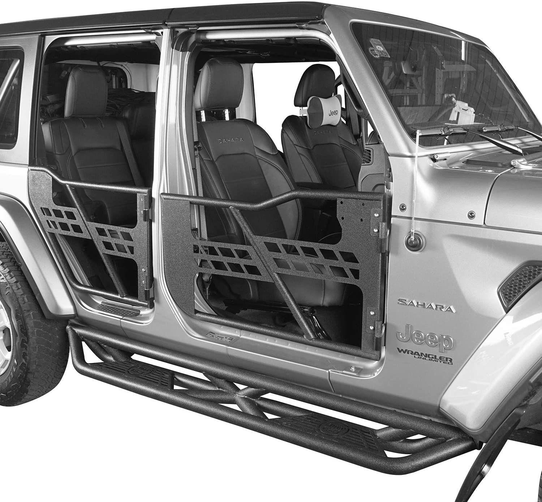4 Doors Tube Half Door Guards for Jeep 2018 up JL, JT in