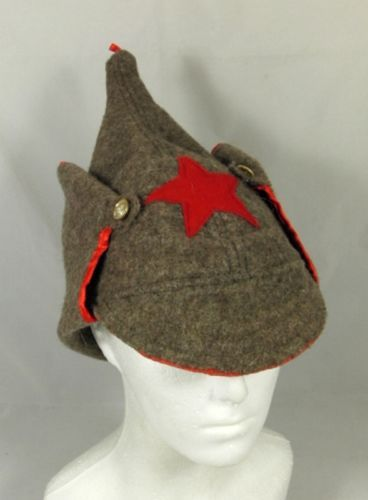 83b628489cc Russian Hat Soviet Red Army Old Style Budenovka Wool Hat Headgear Cloth Red  Star