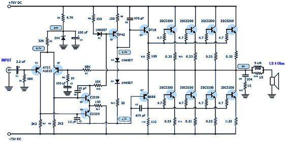 400 Watt    70 Volt Amplifier For Home Audio System Based