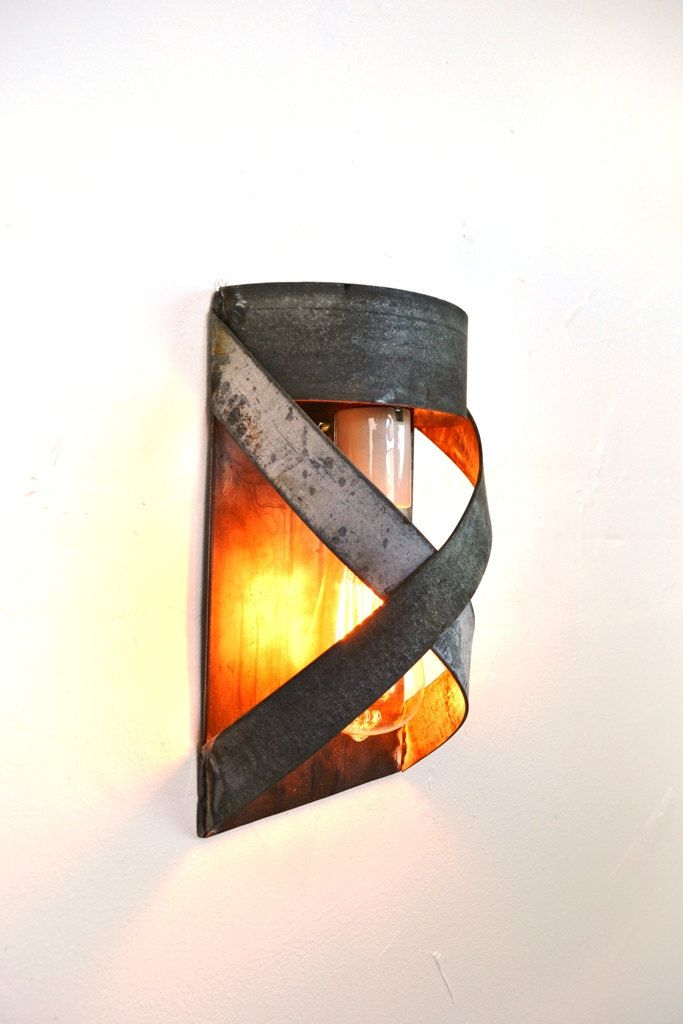 Loft V17 Cordon Wine Barrel Ring Wall Sconce Made From Salvaged