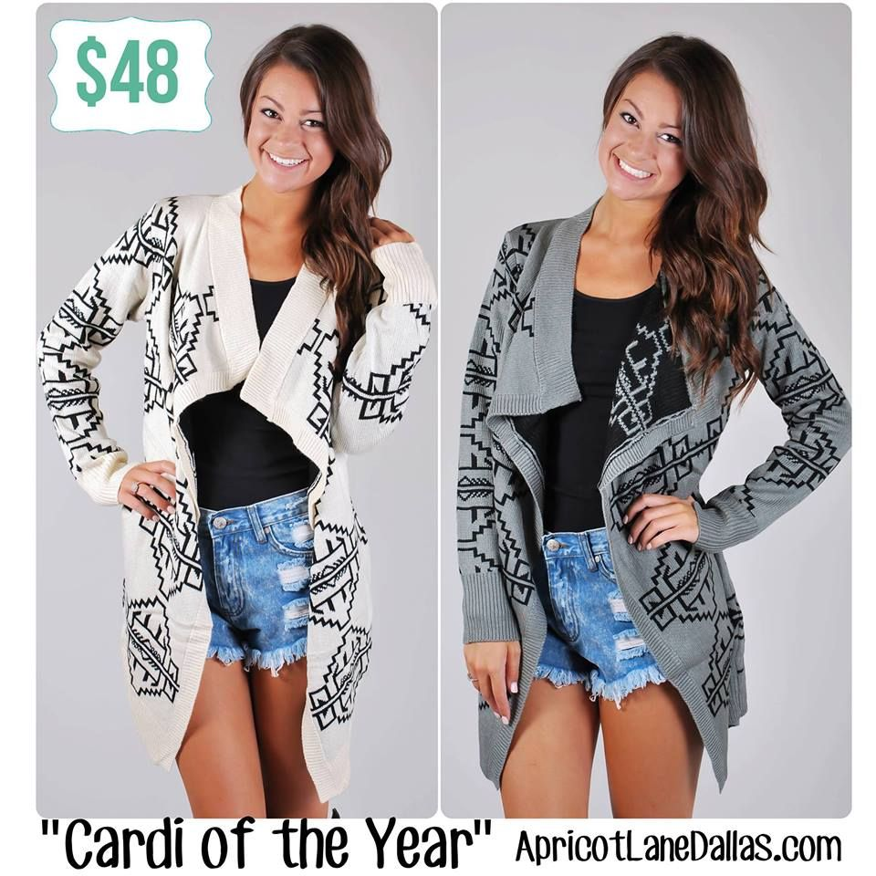 Cardi of the year in Grey has been re-stocked online!! We ordered tons of the ivory and still have some of that color left as well!
