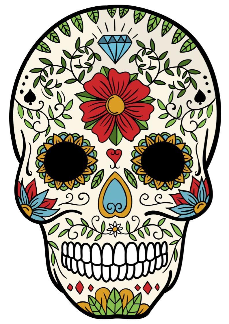 Sugar Skulls Skull Art Skull Artwork Sugar Skull Art
