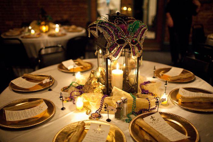 Louisiana Theme Rehearsal Dinner Wrought Iron Lantern Centerpiece
