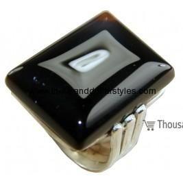 Anika 925 Sterling Silver hi fashion Thousand dollar style Onyx Ring for women