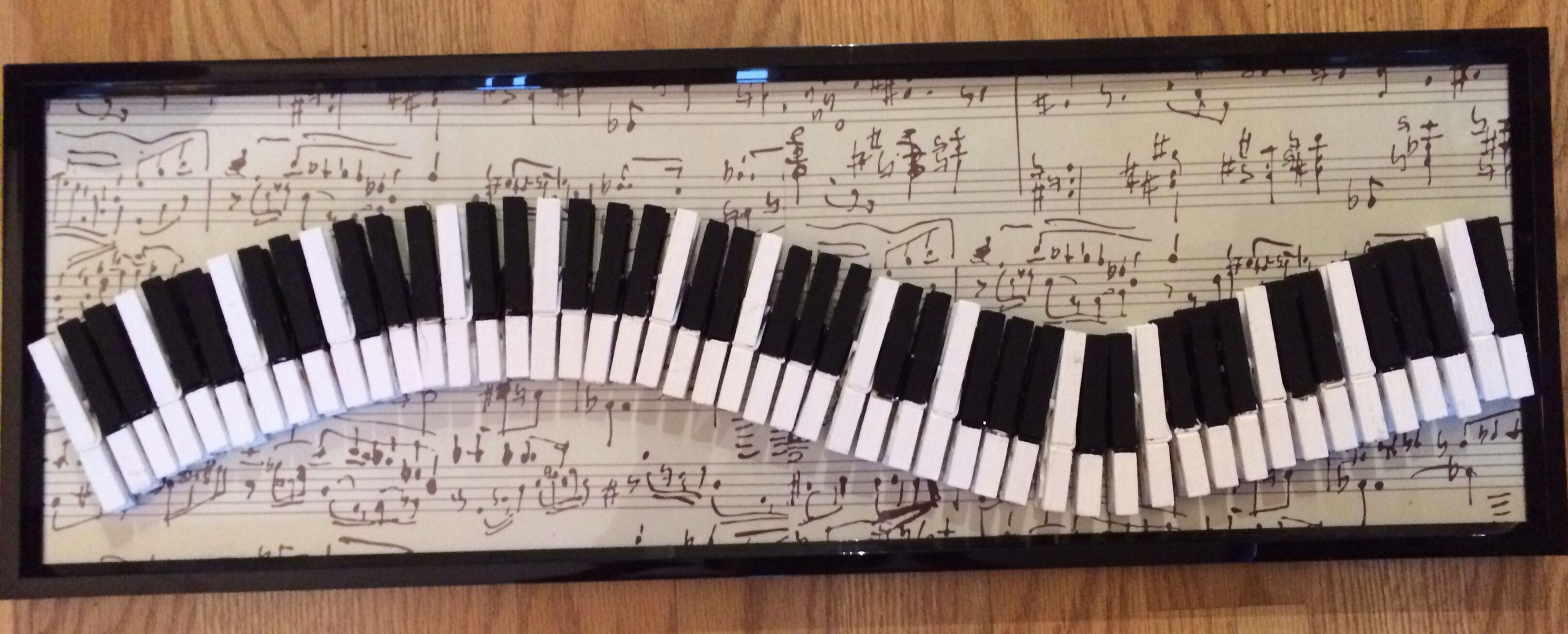 Piano Clothespin Card Holder Clothespins Painted And Glued Onto A