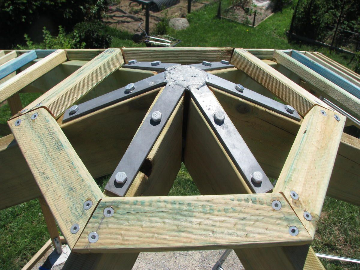 bracket for a gazebo roof