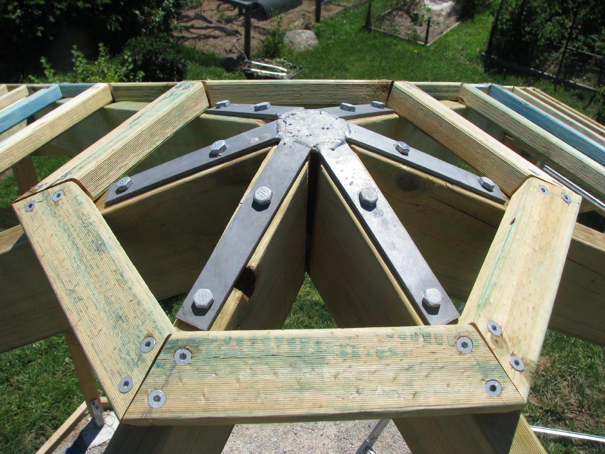 bracket for a gazebo roof