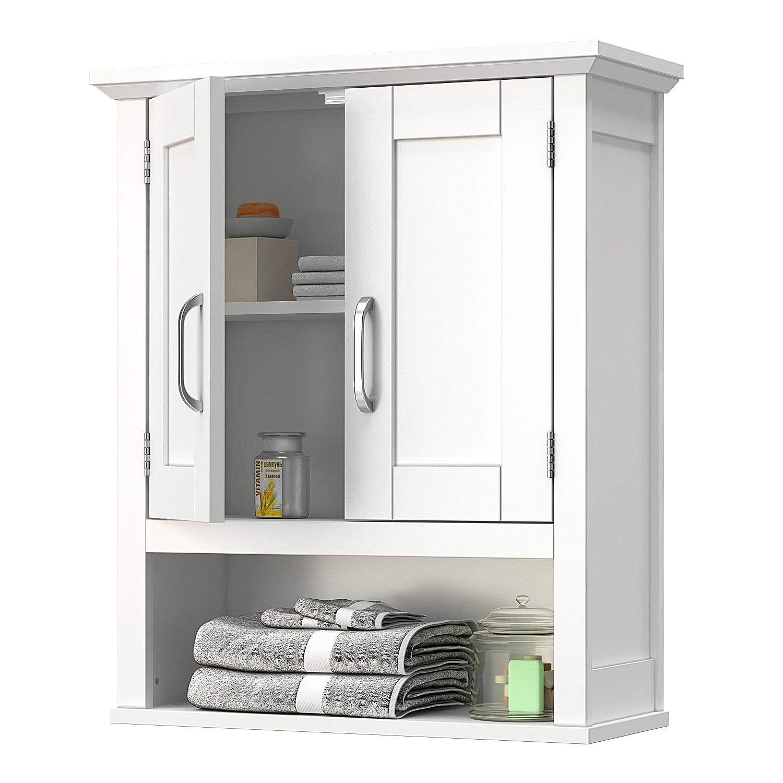 Vipek Home Bathroom Wall Cabinet Wooden Medicine Cabinet Storage Organizer With 2 Doo Medicine Cabinet Shelves Medicine Cabinet Storage Wooden Medicine Cabinet