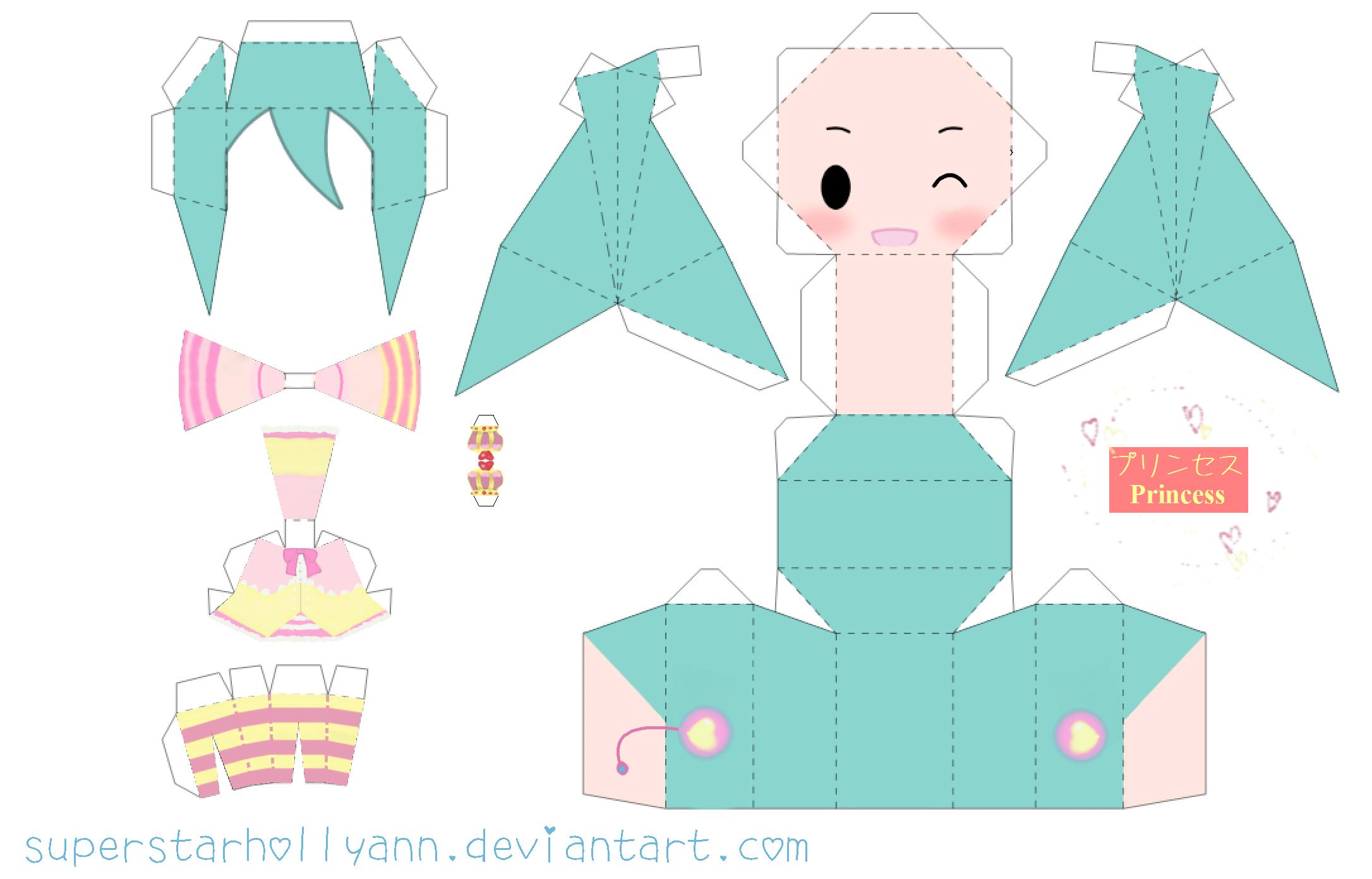 Princess Miku Papercraft by ~superstarhollyann on deviantART
