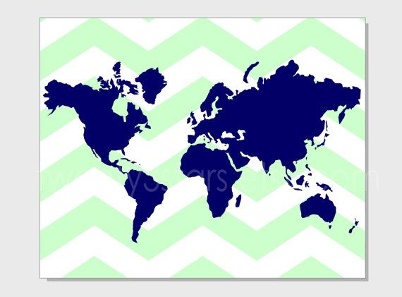 Chevron world map 8x10 print choose your colors and pattern atlas chevron world map 8x10 print choose your colors and pattern atlas map world countries continents gumiabroncs Images