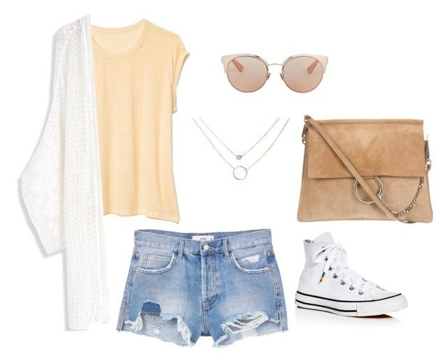 """""""Untitled #10"""" by yasminkoff ❤ liked on Polyvore featuring Gap, Chicwish, MANGO, Converse and Christian Dior"""