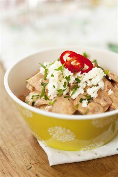 Salade de champignons au paprika et à la feta | Recette ...