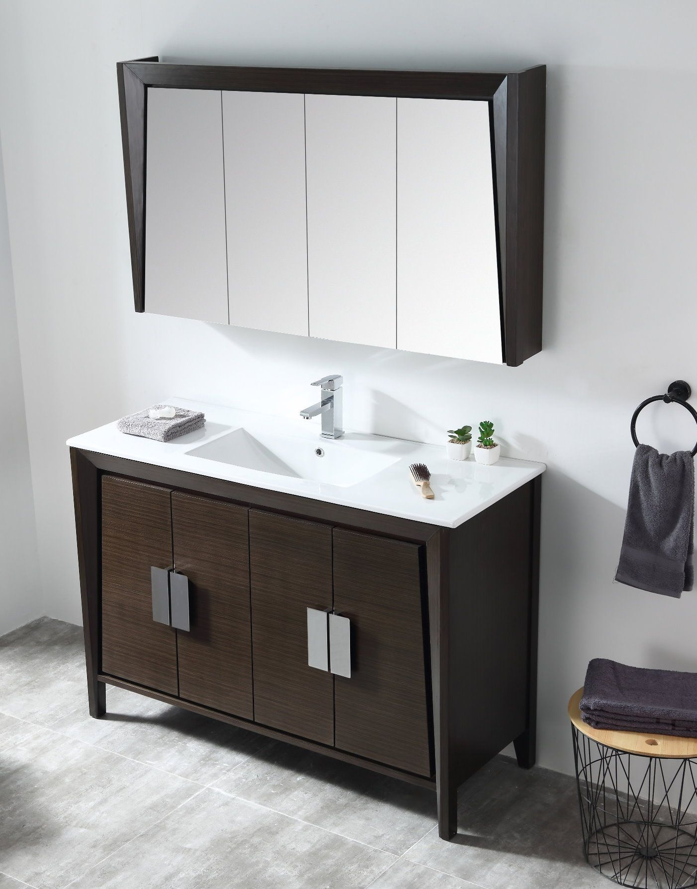 48 Larvotto Ebony Contemporary Bathroom Sink Vanity Cl 22eb47 Zi