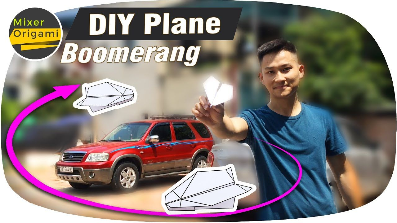 Photo of DIY boomerang paper plane can come back easily | Mixer origami