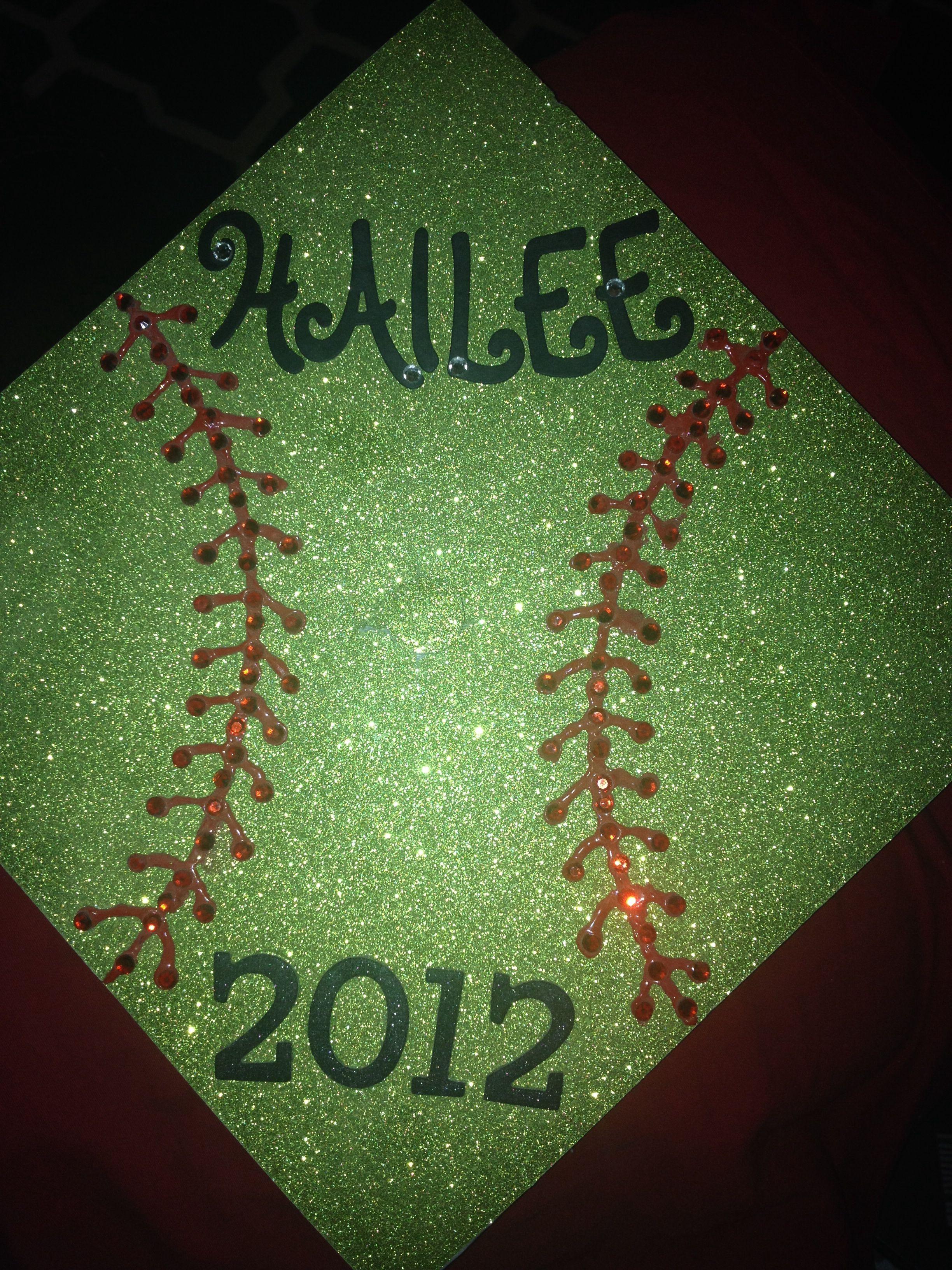Decorated Graduation Cap Softball