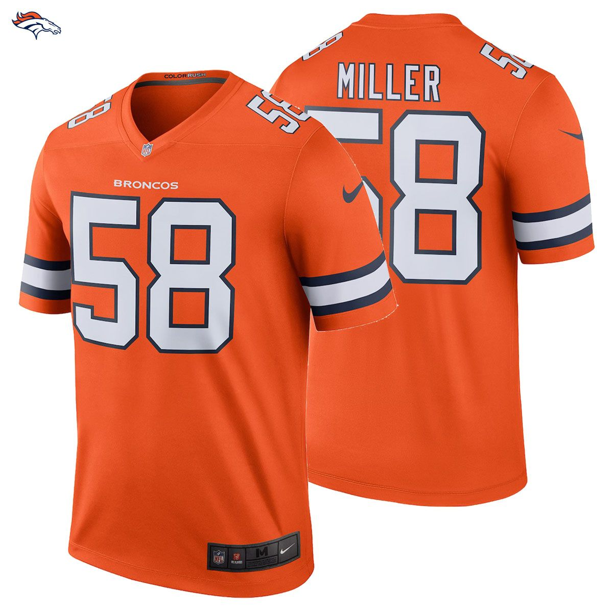 NEW 2018 NFL Von Miller Nike Color Rush Legend Jersey Denver Broncos  58  NWT The New Color Rush Edition Is HERE!!!! Gear up for the new 2018 19 NFL  season ... b559ee591