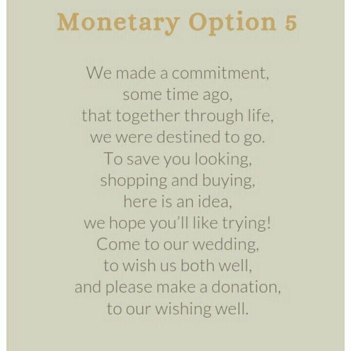 Wedding Invitation Money Gift Wording