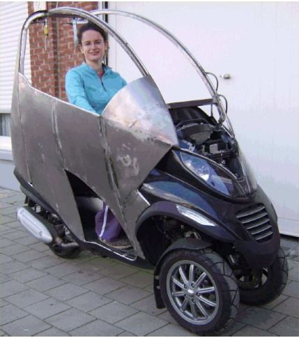 piaggio mp3 tuning belge italie micro vehicle concept