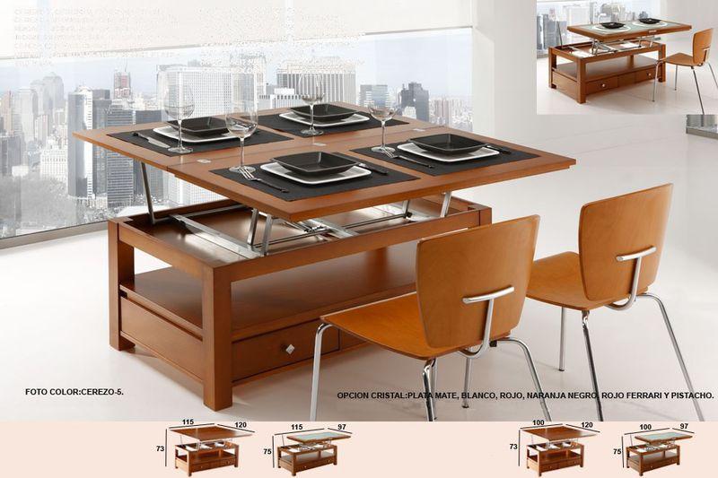 Otro modelo mesa extensible y elevable muebles pinterest - Mesas elevables y extensibles ...
