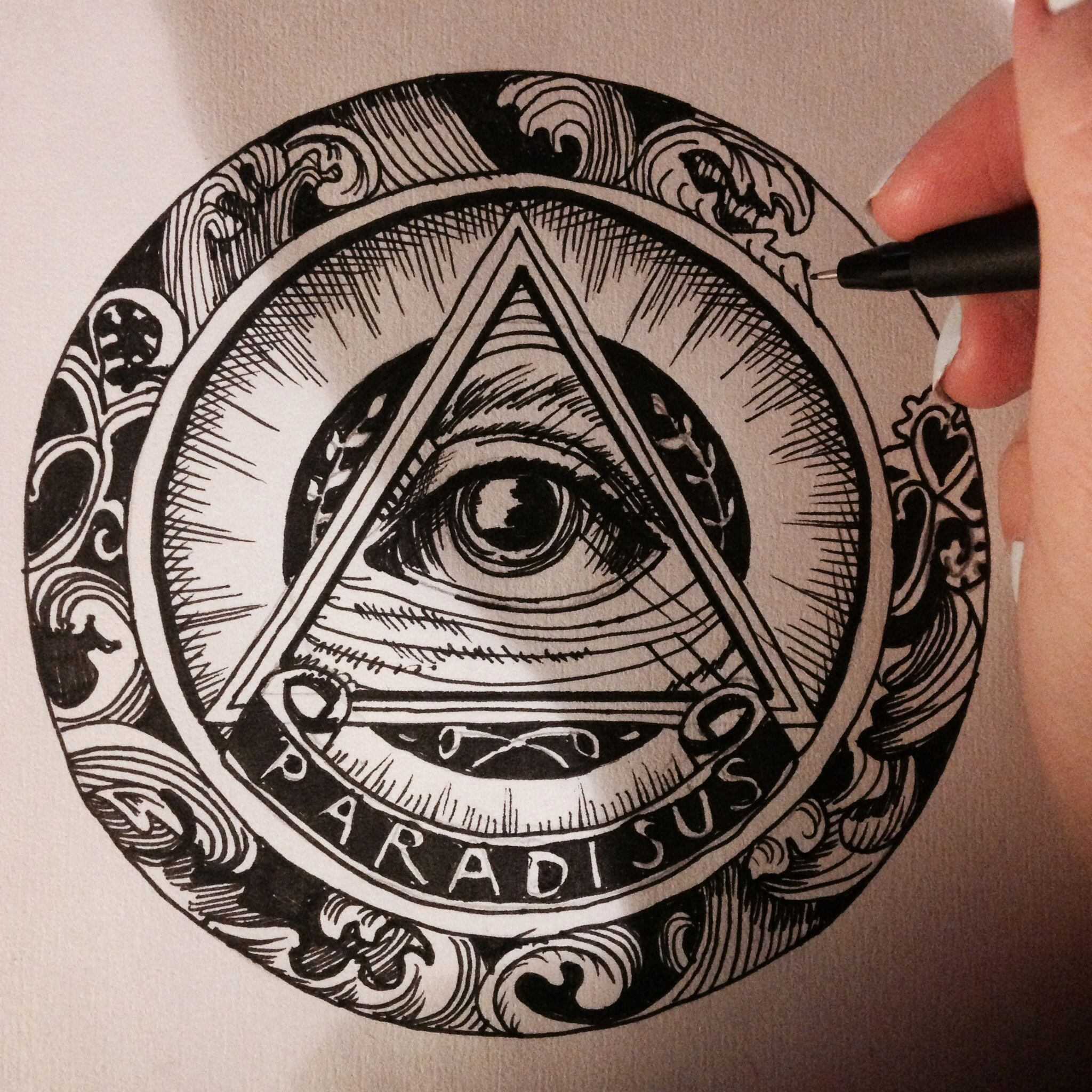 Всевидящее око картинки тату