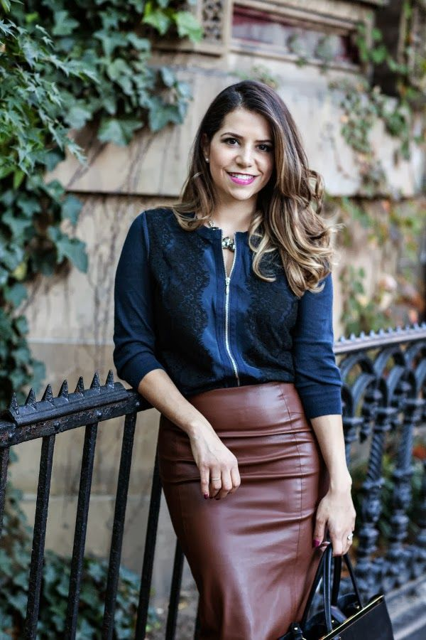 What To Wear With A Faux Leather Skirt - Dress Ala