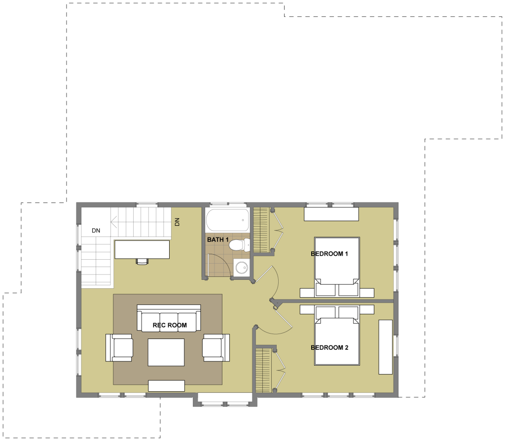 House · Laguna Second Floor Plan Basement Idea Only.