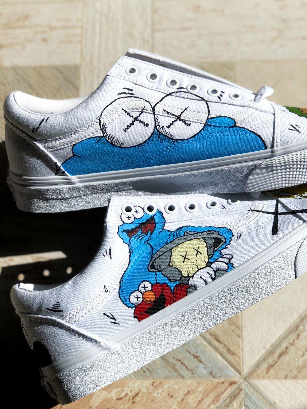KAWS x Sesame Street Vans Old Skool