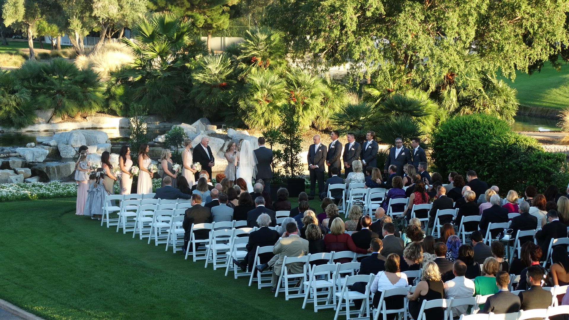 Lovely Outdoor Wedding At Las Vegas Country Club Las Vegas