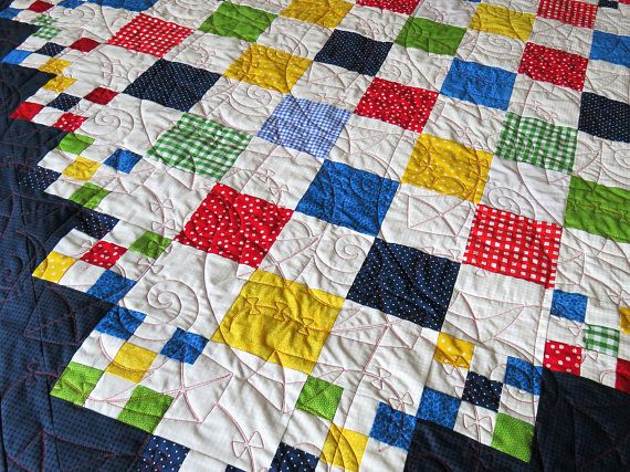 Large handmade quilt toddler blanket quilted easter gift rocking large handmade quilt toddler blanket quilted easter gift negle Images