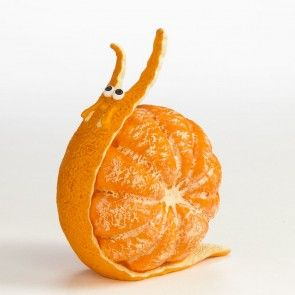 Tangerine Snail Fruit And Vegetable Carving Fruit Creations